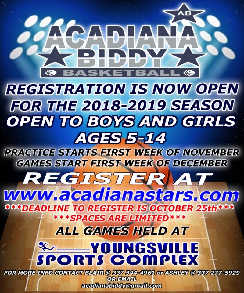 Biddy Basketball Registration