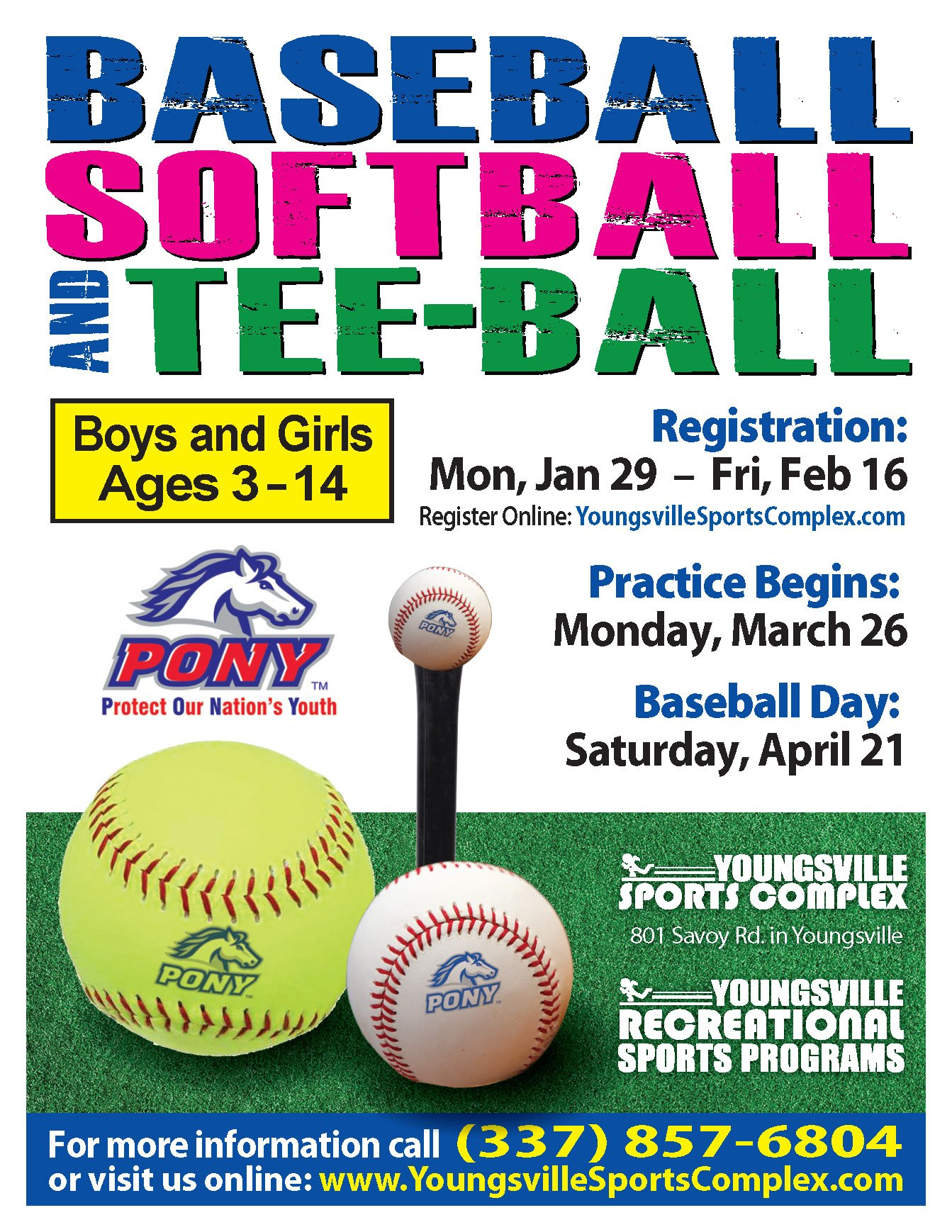 2018 Baseball, Softball & Tee-Ball Season