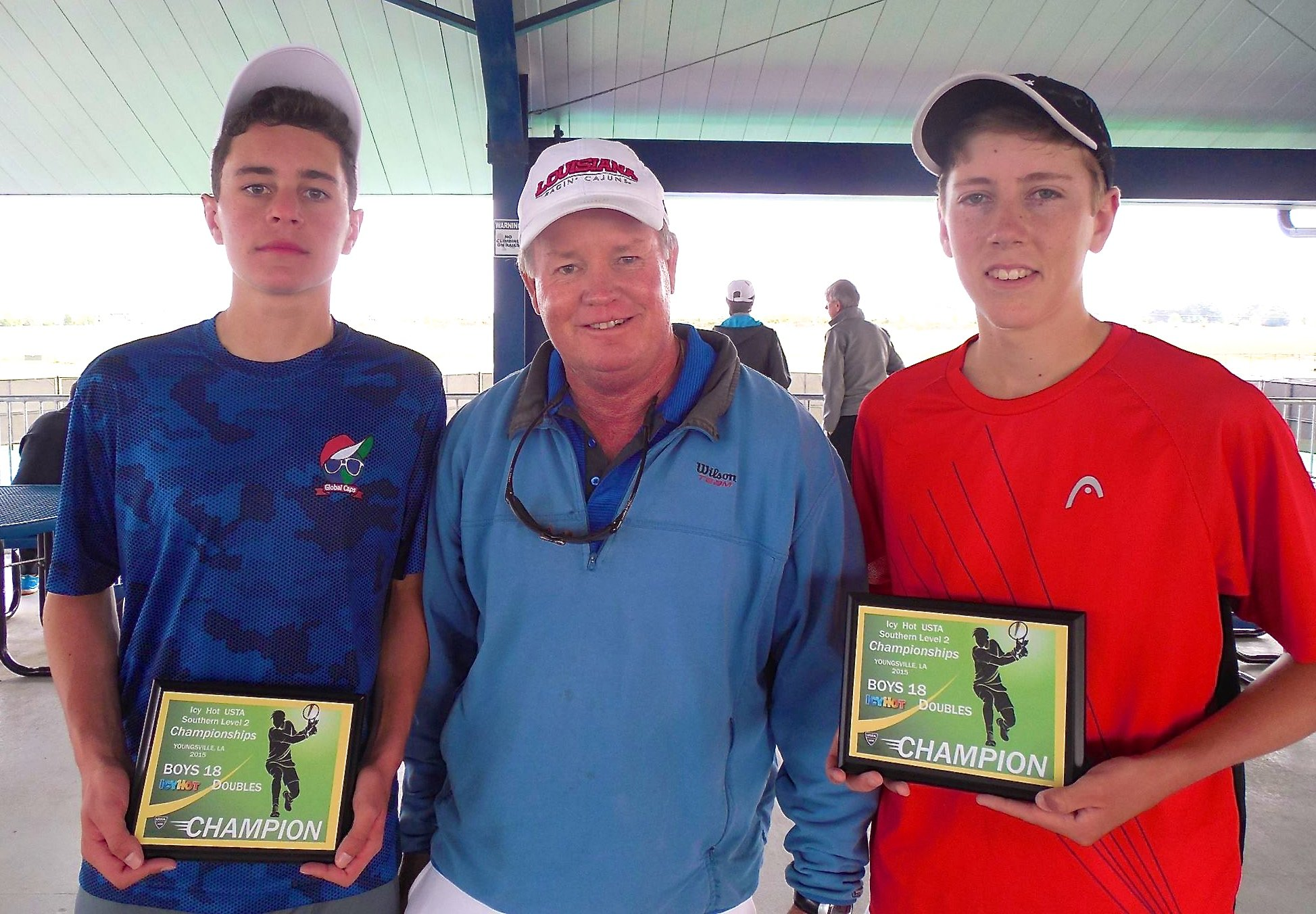 Doubles 18 Champions left: Joseph Gandolfo from Alpharetta, GA, right: Will Harper from Suwanee, GA