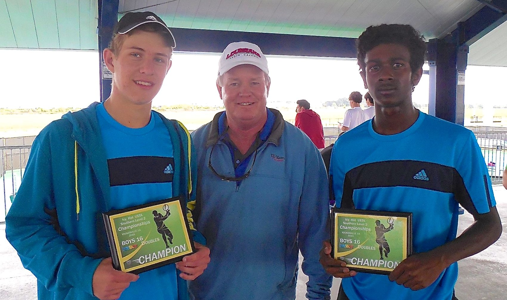 16 Doubles Champions  left: Nick Watson from Baton Rouge, LA,  right: Anil Chakka from Little Rock, AR