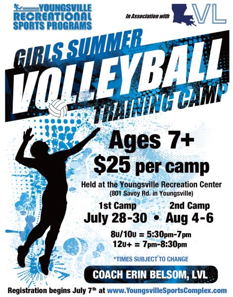 Girls Summer Volleyball Training Camp