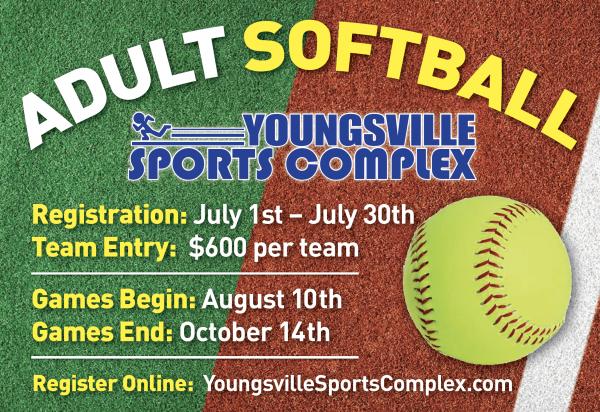 Adult Softball Registration Begins