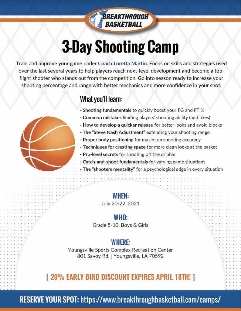 Breakthrough Basketball 3-Day Shooting Camp